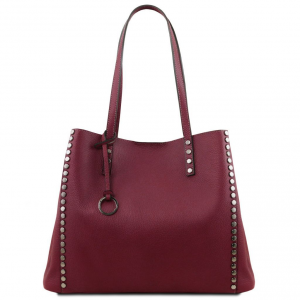 Tuscany Leather TL141735 TL Bag - Borsa shopping in pelle morbida Bordeaux