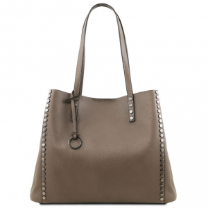 Tuscany Leather TL141735 TL Bag - Borsa shopping in pelle morbida Talpa scuro