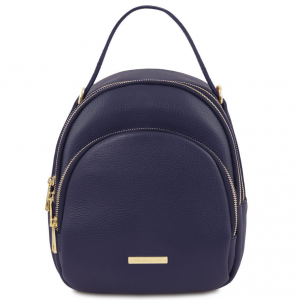 Tuscany Leather TL141743 TL Bag - Zaino donna in pelle Blu scuro