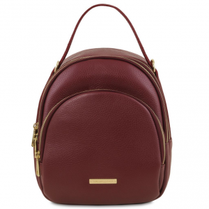 Tuscany Leather TL141743 TL Bag - Zaino donna in pelle Bordeaux