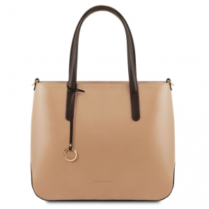 Tuscany Leather TL141791 Penelope - Borsa shopping in pelle Champagne