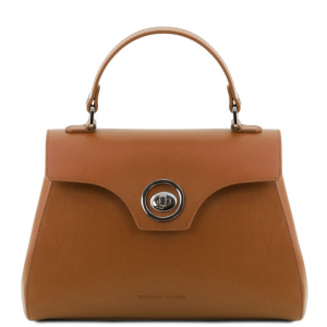 Tuscany Leather TL141824 TL Bag - Bauletto in pelle Cognac