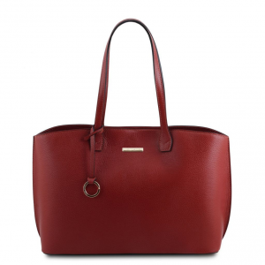 Tuscany Leather TL141828 TL Bag - Borsa tote in pelle morbida Rosso