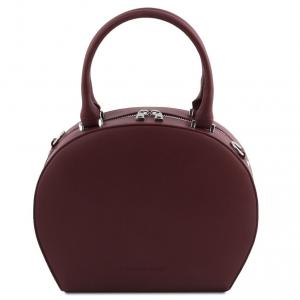 Tuscany Leather TL141872 Ninfa - Bauletto rotondo in pelle Bordeaux