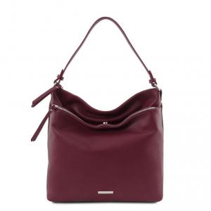 Tuscany Leather TL141874 TL Bag - Borsa a spalla in pelle morbida Bordeaux
