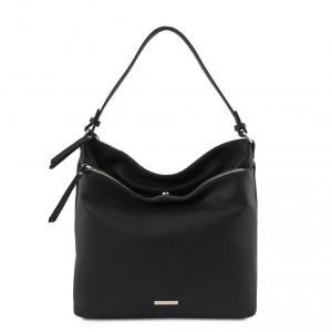 Tuscany Leather TL141874 TL Bag - Borsa a spalla in pelle morbida Nero