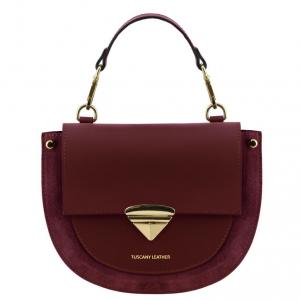 Tuscany Leather TL141882 Talia - Borsa a mano in pelle Bordeaux