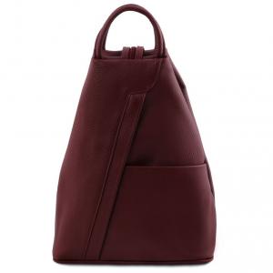 Tuscany Leather TL141881 Shanghai - Zaino in pelle morbida Bordeaux
