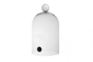 Campana cupola in vetro per affumicatore cm.28h diam.16