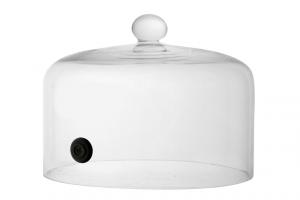 Cupola campana in vetro per affumicatore cm.15h diam.20