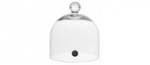 Campana cupola in vetro per affumicatore cm.20h diam.18