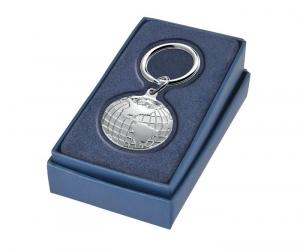 Portachiavi America anello 32 mm argentato cm.8x3,2x1h