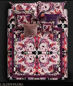 Roberto Cavalli Doppelblatt in CALEIDOFLORA pink satiniert