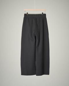 Pantalone nero palazzo con bottoni sui fianchi 32-38