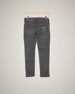 Jeans grigio con applicazioni 4-7 anni