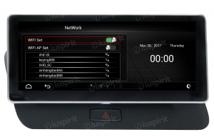 ANDROID 10.25 pollici navigatore per Audi Q5 2009-2017 GPS WI-FI Bluetooth MirrorLink 2GB RAM 32GB ROM 4G LTE