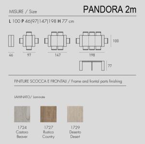 Consolle allungabile Pandora