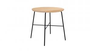 Tavolino in legno e ferro Disc