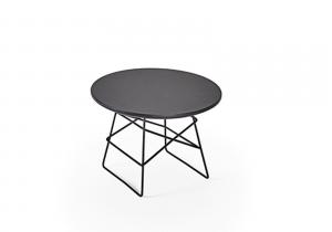 Tavolino da caffè in legno e ferro Grid