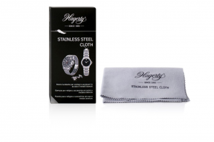 Tessuto impregnato per la pulizia e la cura di orologi e accessori di acciaio o metallo Hagerty cm.36x30