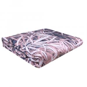 ROBERTO CAVALLI PLAID IMBOTTITO in raso 130x180 cm PAPYRUS rosa