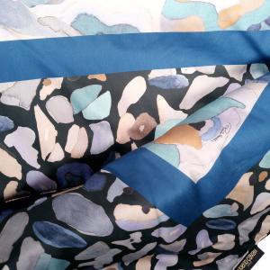 ROBERTO CAVALLI PLAID IMBOTTITO in raso 130x180 cm CALEIDOFLORA blu
