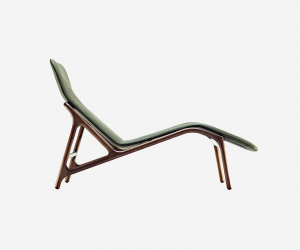 Chaise longue in legno Marshall