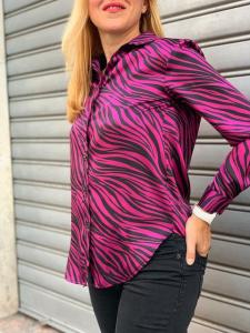 Camicia Over Zebrata Kontatto