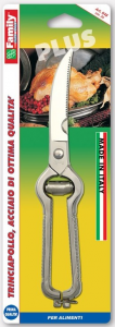 Trinciapollo in acciaio cromato cm. 24 linea family