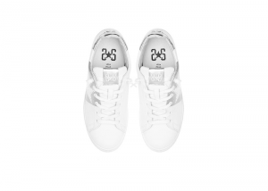 Sneakers donna 2*stars low bianco-argento