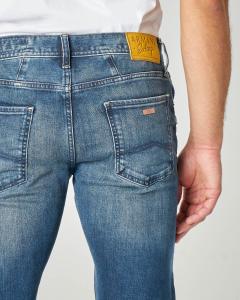 Jeans J13 lavaggio stone wash in cotone stretch