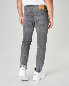 Jeans 501 tapered lavaggio grigio con sbiancature