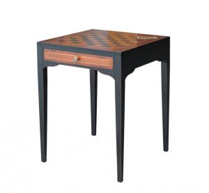 Tavolino intarsio scacchiera bicolore - OFFERTA