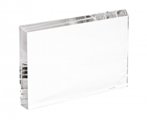 Fermacarte in vetro rettangolare cm.1,9x12x8h