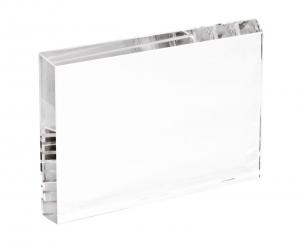 Fermacarte in vetro rettangolare cm.1,9x15x10h