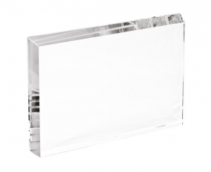 Fermacarte in vetro rettangolare cm.1,9x18x112h