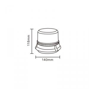 Lampeggiante rotativo con base magnetica