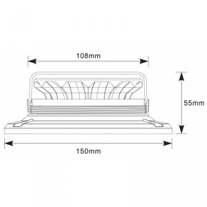 Lampeggiante rotativo 12 led 10w con base magnetica