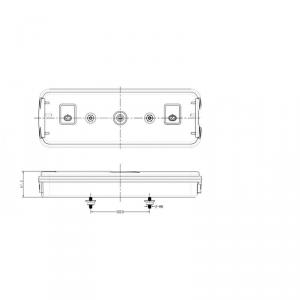 Fanale posteriore rimorchio dx