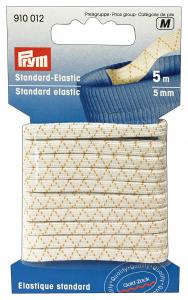 Elastico Lavabile 5 mm X 5 Mt Bianco 500107 Per cucito