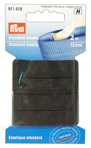 Elastico Lavabile 12 ml X 2 Mt Nero 500113 Per cucito
