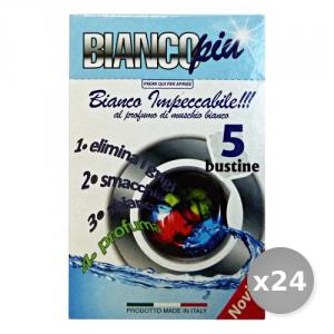 Set 24 ARCOBALENO Salvacolore Bianco x 5 Bustine Detergenti Casa