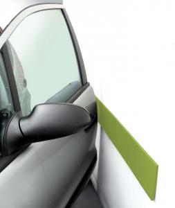 Coppia Di Paracolpi Adesivi Cm 14 X 100 Col. Verde Per Proteggere Portiere Auto