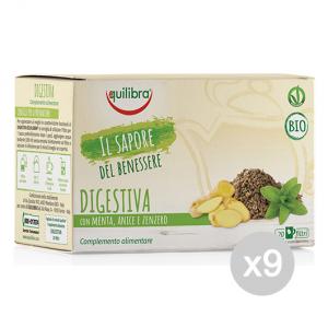Set 9 EQUILIBRA Herbal tea Bio Digestive 20 Envelopes Tdib Infusion drink