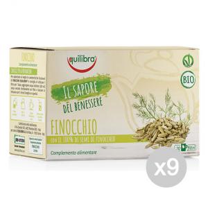 Set 9 EQUILIBRA Herbal tea Bio Fennel 20 Envelopes Tfib Infusion drink