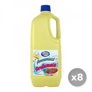 Set 8 AMACASA Ammoniaca profumata 2L prodotto per la pulizia del bagno
