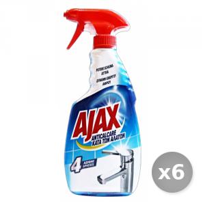 Set 6 AJAX Anticalcare Schiuma Attiva Trigger 500 ml Deterisvo Detergente