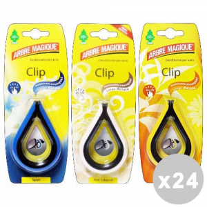ARBRE MAGIQUE Set 24 ARBRE MAGIQUE Deodorante Clip Misto - Articoli Per auto
