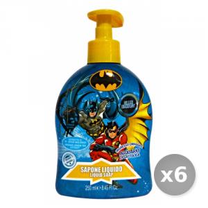 Set 6 BATMAN Sapone Liquido 250 ml - Linea Bimbo