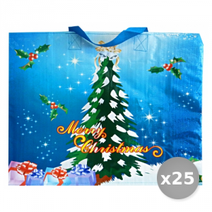 Set 25 Stock Exchange Spending Cerata Christmas Blue 40x45x20 Shoppers